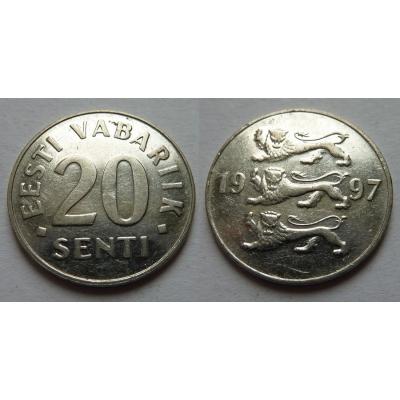 Estonsko - 20 senti 1997