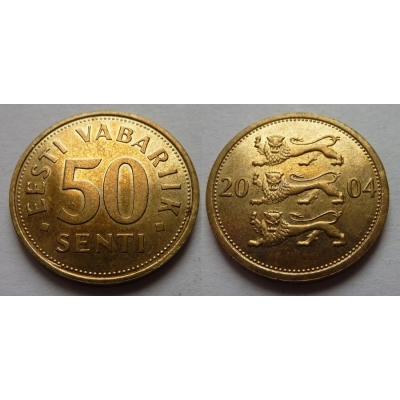 Estonsko - 50 senti 2004