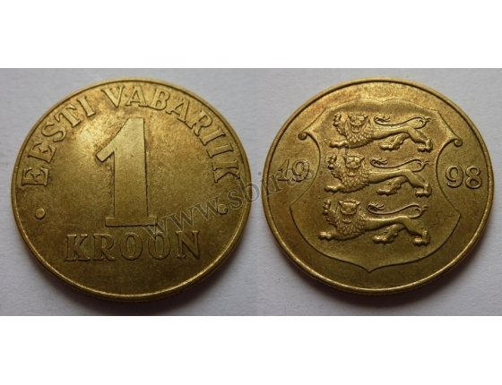 Estonsko - 1 kroon 1998