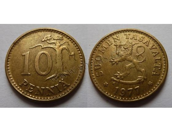 Finsko - 10 penniä 1977