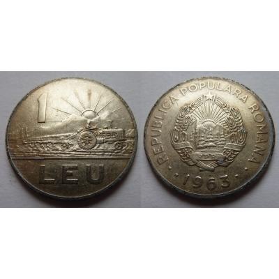 Rumunsko - 1 leu 1963