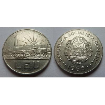 Rumunsko - 1 leu 1966