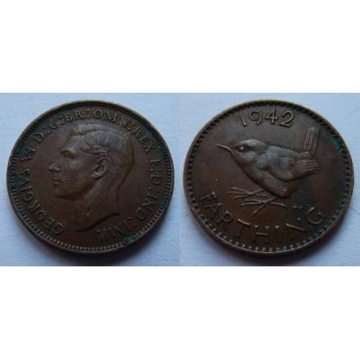 Velká Británie - Farthing 1/4 Penny 1942