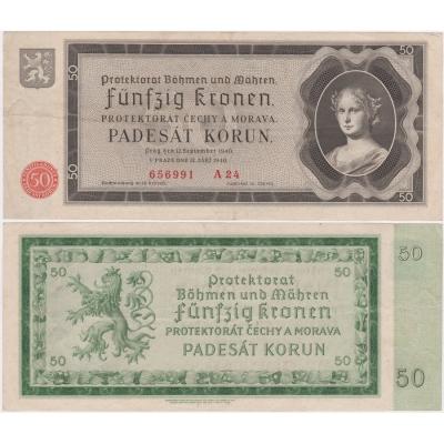 50 korun 1940, neperforovaná, série A