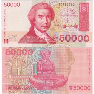 Chorvatsko - 50000 dinara 1993 UNC
