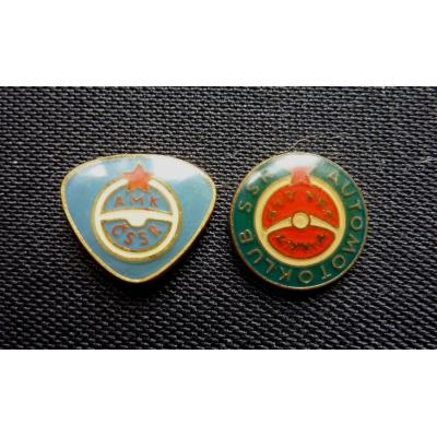 Automotoklub ČSSR + SSR - 2x odznak jehla