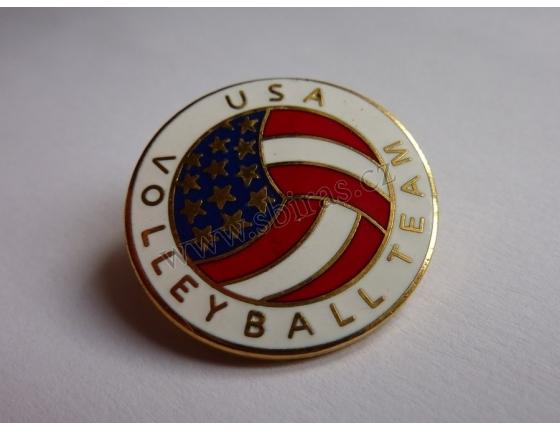 Volejbalový tým USA - připínací odznak