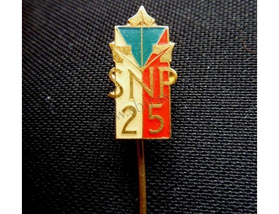 Slovenské národní povstání - 25. výročí, odznak jehla