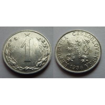 1 haléř 1958