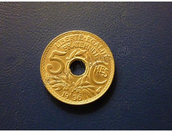 5 centimů 1936