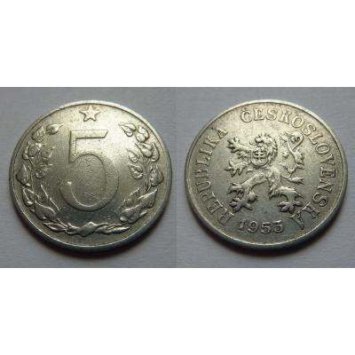 5 haléřů 1953