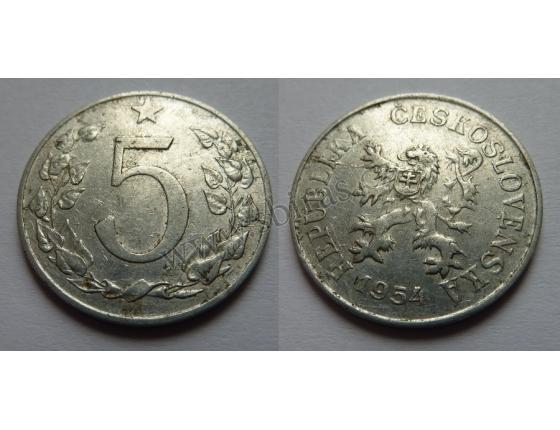 5 haléřů 1954
