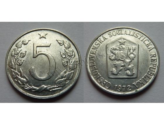 5 haléřů 1972
