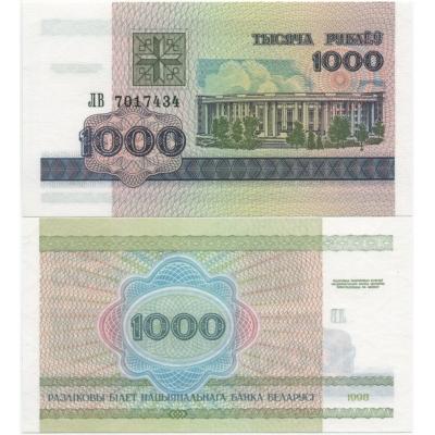 Bělorusko - bankovka 1000 rublů 1998 UNC