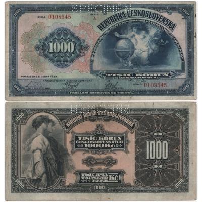 1000 korun 1932, série A