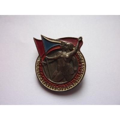 II. Spartakiáda 1960, připínací odznak, mincovna Kremnica
