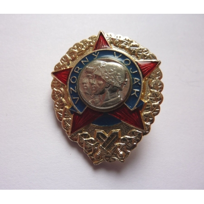 Czechoslovakia -Exemplary soldier Badge