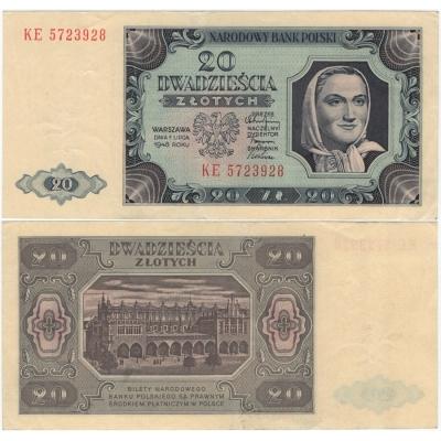 20 zlotych 1948
