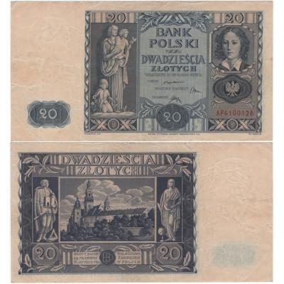 Polsko - bankovka 20 Zlotych 1936