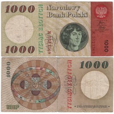 Polsko - bankovka 1000 zlotych 1965