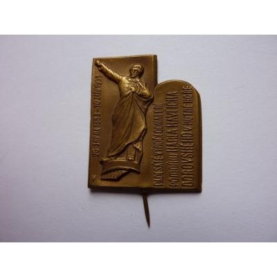 Karel Havlíček Borovský - 50 let od odhalení pomníku v Kutné Hoře 1933, odznak jehla